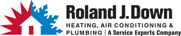 Roland J. Down Service Experts Heating & Air Conditioning Logo